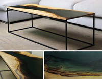 Contemporary River Table Using GlassCast 50 Epoxy Resin Thumbnail